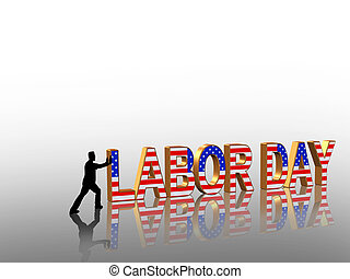 Labor Day Graphic - Labor Day card, invitation, template or...
