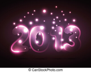 neon style new year