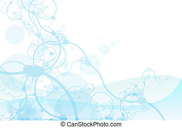 Soothing Modern Plant Growth Abstract In Soft Blue Colors