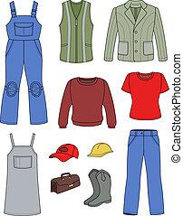 Worker, plumber man, woman fashion - Worker, plumber man,...