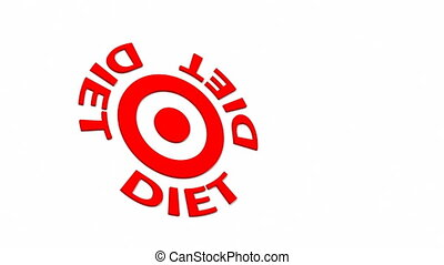 Diet Target - Target and dart with circular text. Part of a...