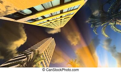 Downtown Honolulu -artwork video illustration