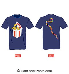 T-shirts with snake on it vector illustration