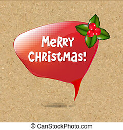 Speech Bubble With Christmas Decoration
