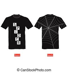 T-shirts with spider web on it vector part two