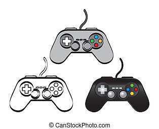 gamepad over white background. vector illustration