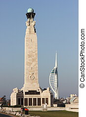 portsmouth memorial and spinnaker - a portsmouth memorial...