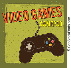 gamepad over vintage background vector illustration