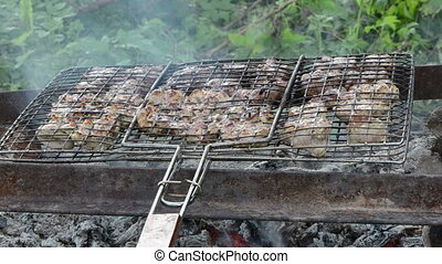 meat bake smoke grid