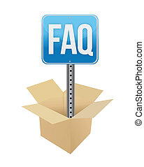 faq panel illustration design over a white background