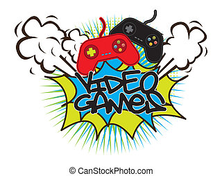 gamepad - video games with gamepads background. vector...