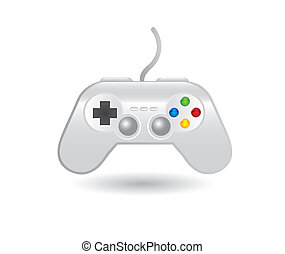 gamepad over white background vector illustration