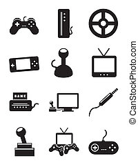 video game icons over white background. vector illustration