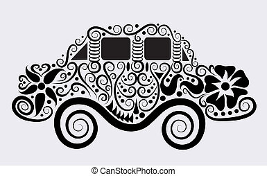 Decorative car vector