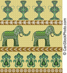 indian three-band pattern - pattern on the Indian subjects...