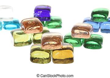 Gems garden background pattern of stones mini sculpture