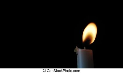 Candlelight Loop - Loop with a single plain white candle and...