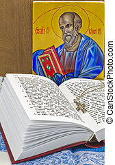 The Gospel of John - book in Church Slavonic language