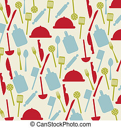 cutlery icons - vintage cutlery icons over beige background...