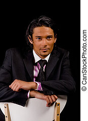 Business portrait - Young indonesian man in a business suit