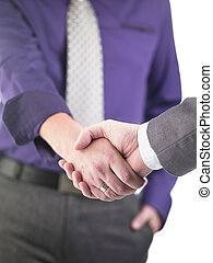 41 cropped image of doctors shaking hands - Cropped image of...
