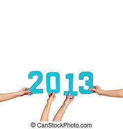 2013, Novo, ano, Saudação, cartão