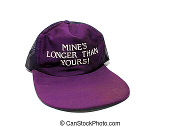 Novelty Hat - Isolated purple novelty hat with the words...