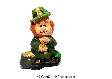 Leprechaun - Isolated St Patricks day home made Leprechaun...