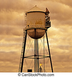 Old Silo at Sunset