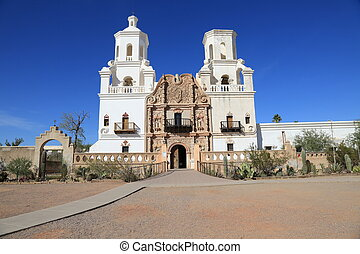 San Xavier del Bac Mission Church - Founded in 1692, the San...