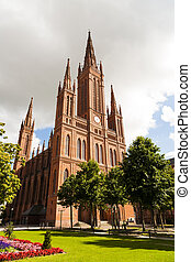 Marktkirche in Wiesbaden,Germany - famous Marktkirche in...