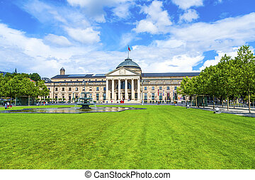 famous casino in Wiesbaden, Germany in daytime