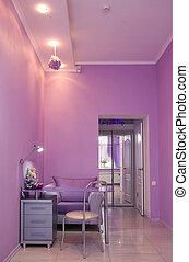 manicure room in a modern beauty salon