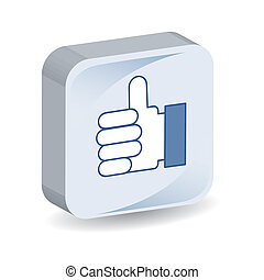 like icon isolated over white background. vector...