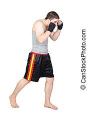 jovem, kickboxer