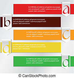 Numbers Brochure - A, B, C brochure colorful lines over grey...