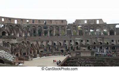Coliseum interior in Rome, Italy