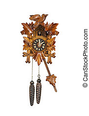 Traditional Cuckoo Clock Sounding on the Hour - Crafted...