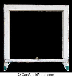 Rustic vintage window frame, can be used as photo frame -...