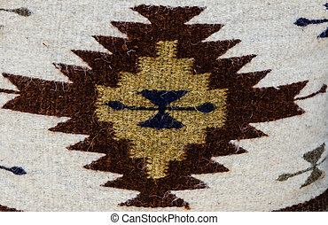 Colorful native american pillow - closeup background,...