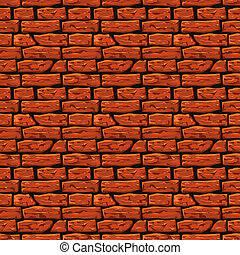 Brick wall texture, vector Eps8 illustration - Background of...