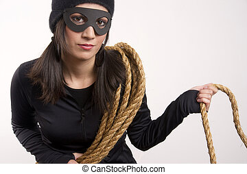 Lawless Bandit - A thief lurks around the house after using...
