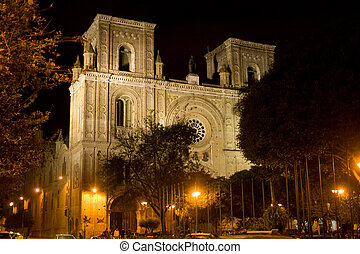 Cathedral of the Immaculate Conception, Cuenca Ecuador -...