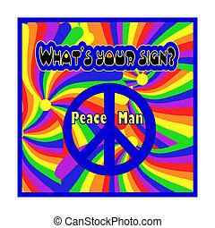 Peace Sign - Illustration of a peace sign design. The text...