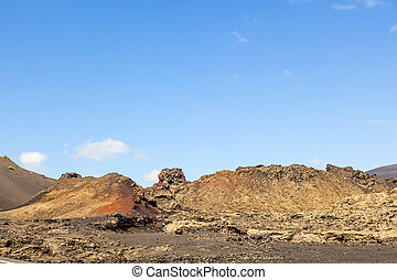 famous volcanoes of Timanfaya National Park