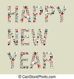 2013 happy new year xmas icons