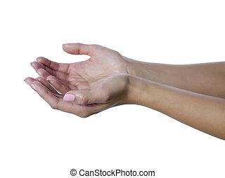 Womans, mendicância, mãos