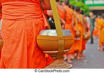 monjes, budista