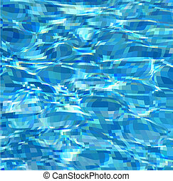 Texture water in a blue swimming pool. Vector