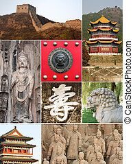 Landmark collage of China - highlights
